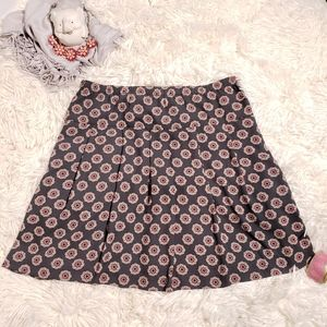 LOFT Ann Taylor skirt Boho flower design